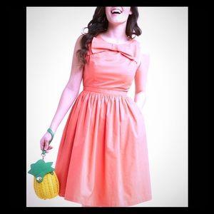 ModCloth orange bow dress